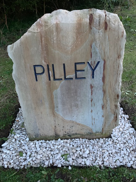 Newly Renovated Pilley Sign